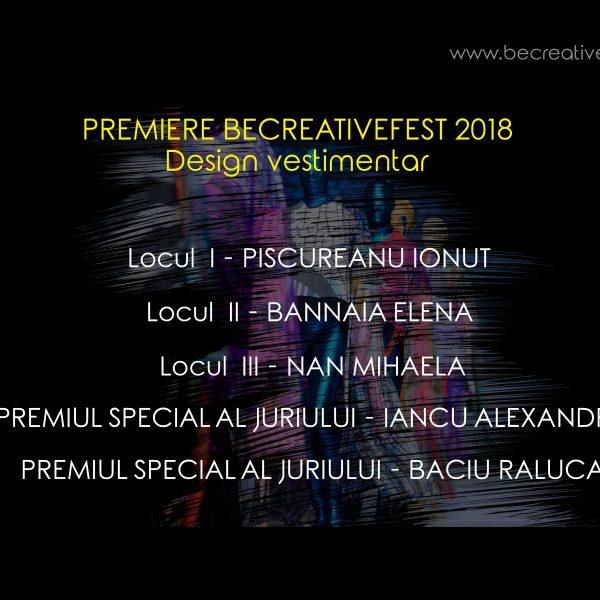 premiere design vestimenaar be creative 2018