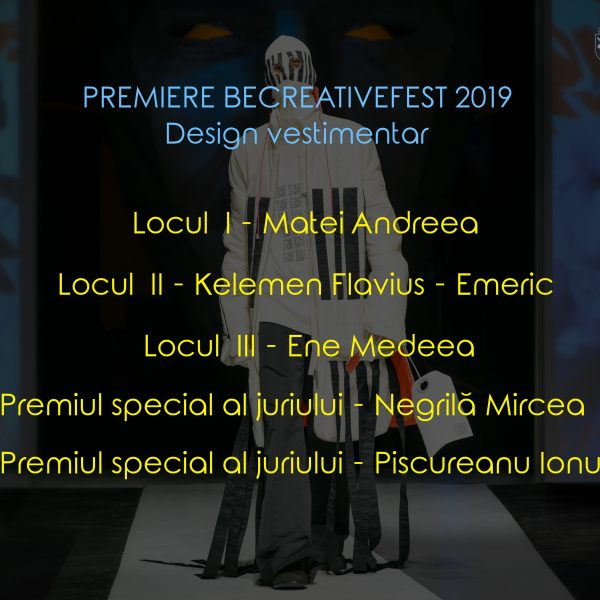 premiere design vestimenaar be creative 2019